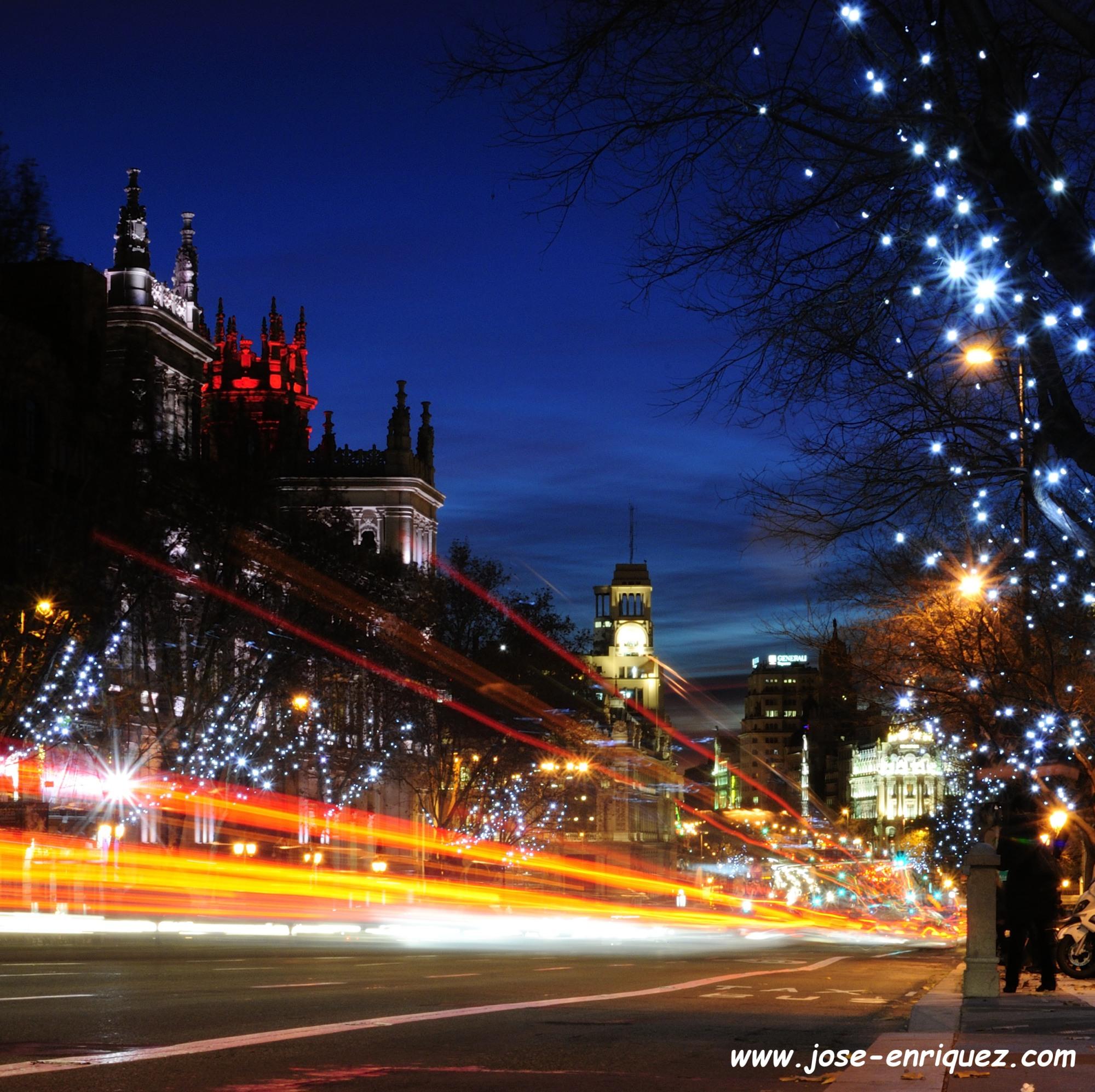 04-004 03 Calle de Alcalá. Luces de Navidad en Madrid.